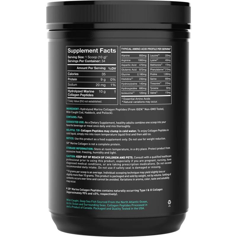 Sports Research Marine Collagen Peptides Hydrolyzed Type 1 & 3 Без Добавок 340 грамм - фото 1
