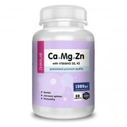Chikalab Ca + Mg + Zn with vitamins D3, K2 60 tablets