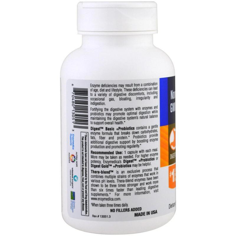 Enzymedica Digest Basic + Probiotics 90 capsules - фото 1