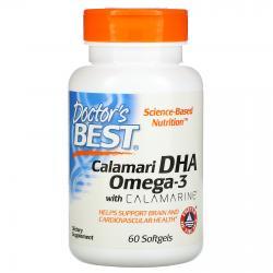 Doctor's Best Calamari DHA Omega-3 with calamarine 60 softgels