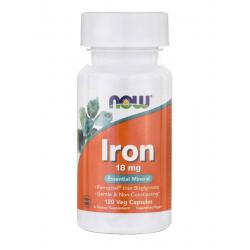 Now Foods Iron 18 mg 120 vcaps
