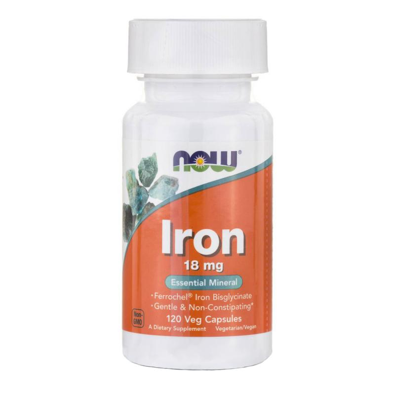 Now Foods Iron 18 mg 120 vcaps - фото 1