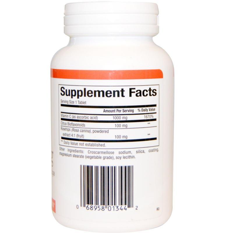 Natural Factors Vitamin C plus Bioflavonoids & Rosehips 1000 mg 90 tablets - фото 1