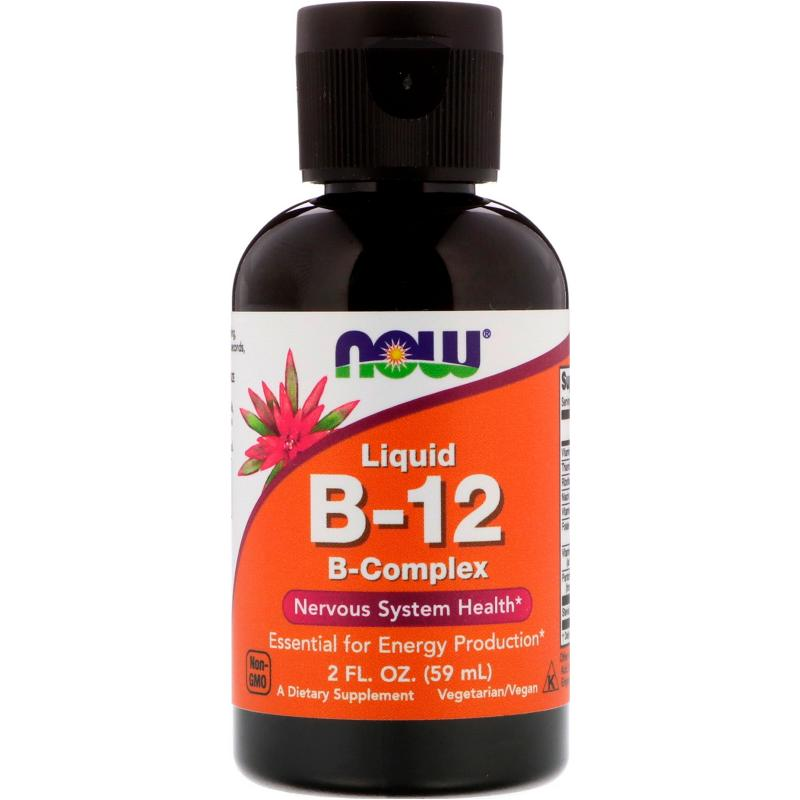 Now Foods Liquid B-12 B-Complex 59 ml - фото 1