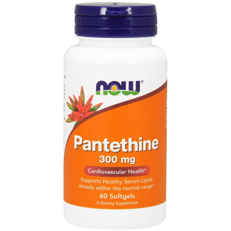 Now Foods Pantethine 300 mg 60 softgels - фото 1