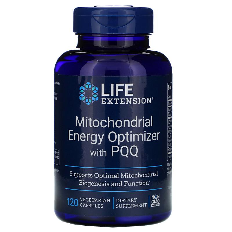 Life Extension Mitochondrial Energy Optimizer with PQQ 120 VegCaps - фото 1