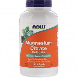 Now Foods Magnesium citrate 180 softgels