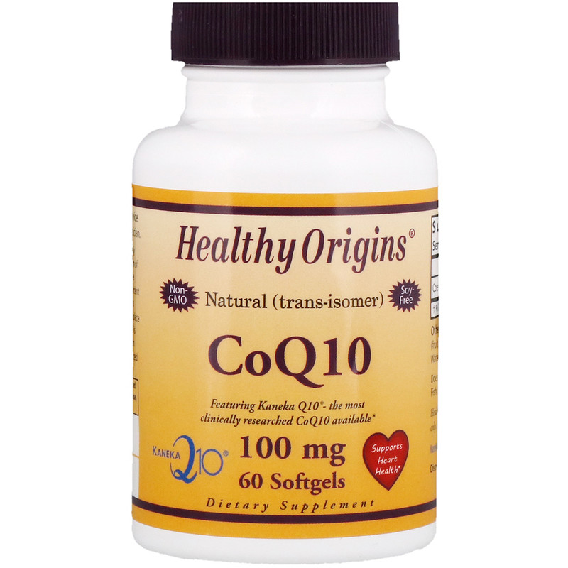 Healthy Origins CoQ10(Kaneka Q10) 100 mg 60 softgels - фото 1