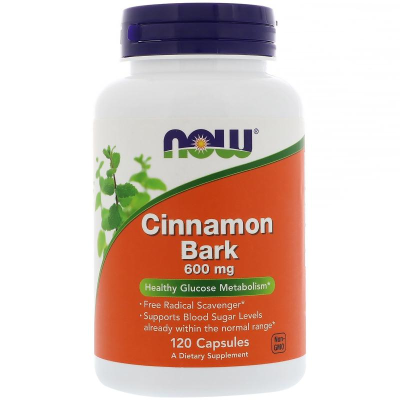 Now Foods Cinnamon Bark 600 mg 120 Capsules - фото 1