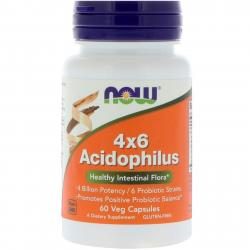 Now Foods Acidophilus 4*6 60 caps