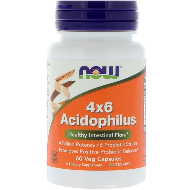 Now Foods Acidophilus 4*6 60 caps - фото 1