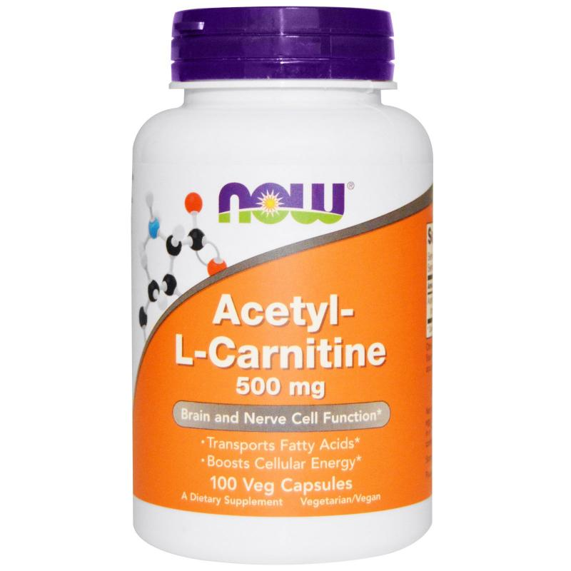 Now Foods Acetyl-L-Carnitine 500 mg 100 caps - фото 1