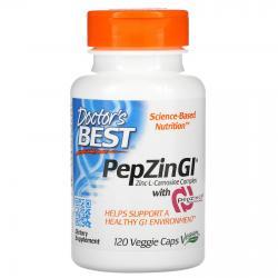 Doctor's Best PepZin GI Zinc-L-Carnosine Complex 120 caps