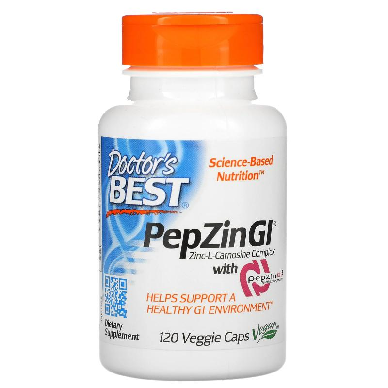 Doctor's Best PepZin GI Zinc-L-Carnosine Complex 120 caps - фото 1