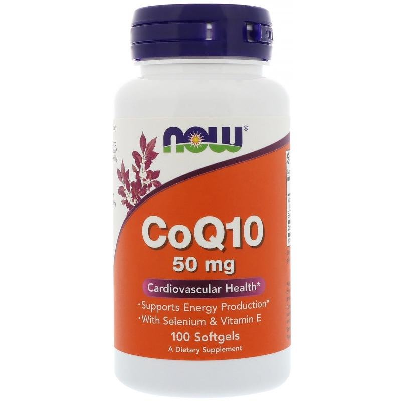 Now Foods CoQ10 50 mg 100 softgels - фото 1