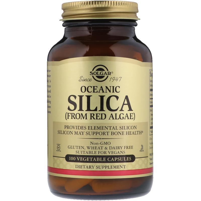 Solgar Oceanic Silica from red algae 100 capsules - фото 1