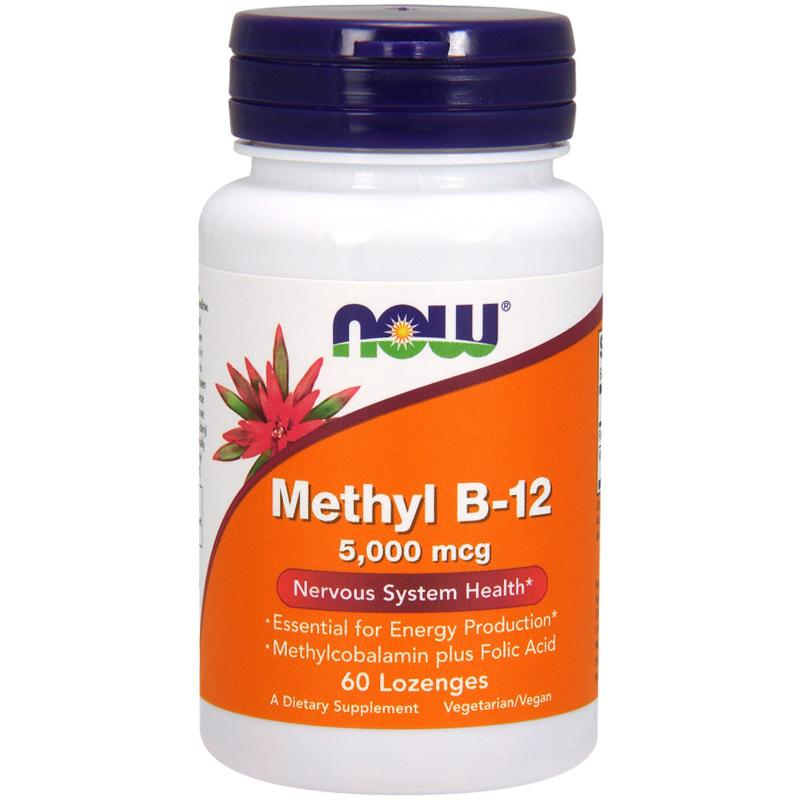 Now Foods Methyl B-12 5000 mcg 60 lozenges - фото 1