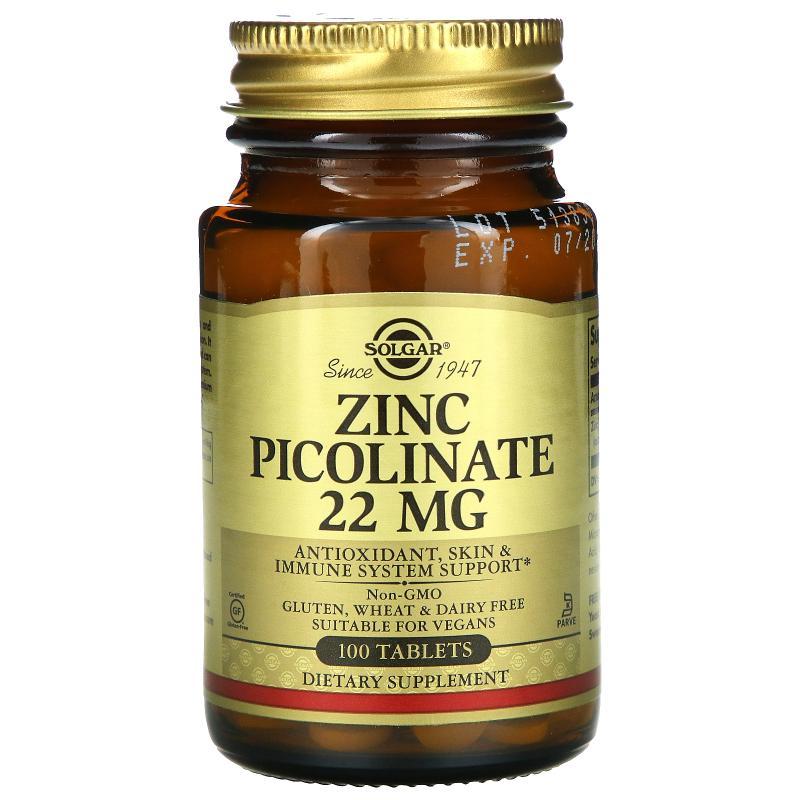 Solgar Zinc Picolinate 22 mg 100 tablets - фото 1