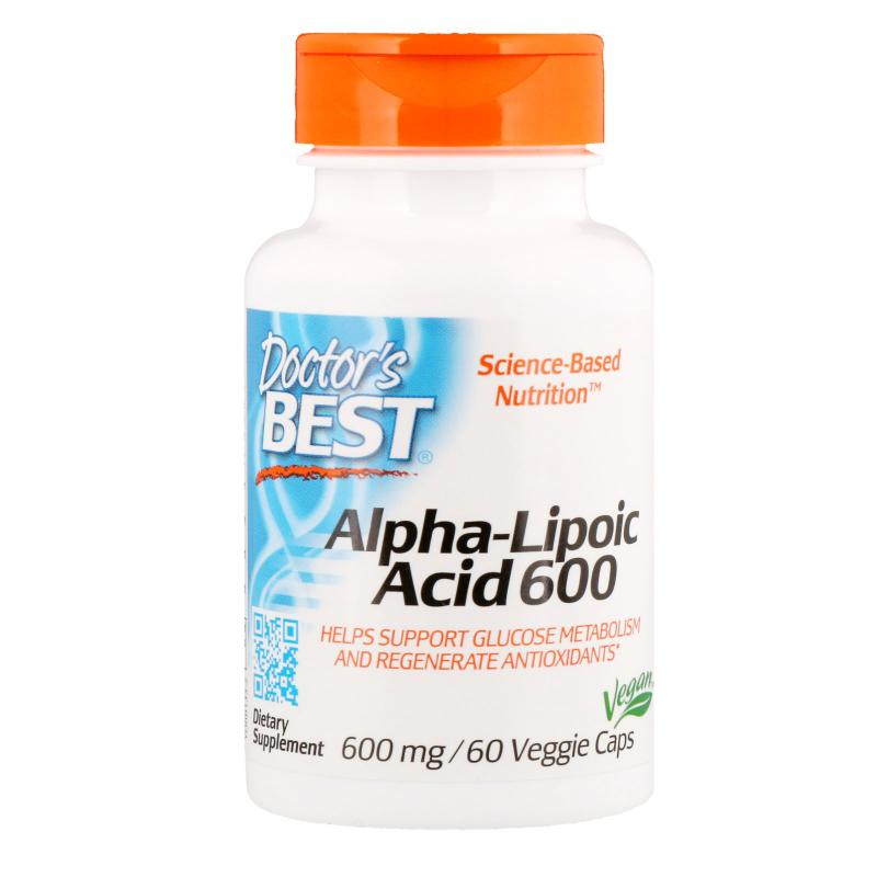 Doctor's Best Alpha Lipoic Acid 600 mg 60 vcaps - фото 1