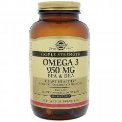 Solgar Omega 3 950 MG EPA & DHA 100 Softgels