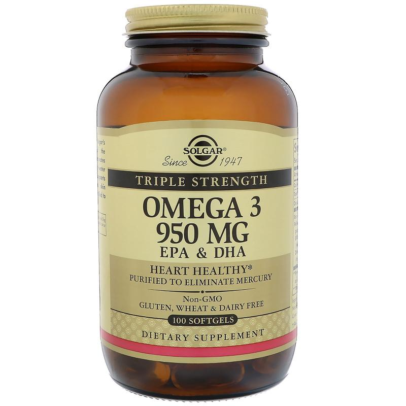 Solgar Omega 3 950 MG EPA & DHA 100 Softgels - фото 1