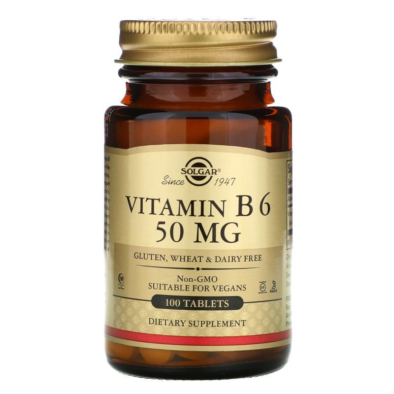 Solgar Vitamin B 6 50 mg 100 tablets - фото 1