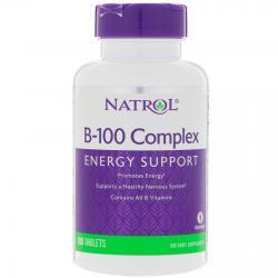 Natrol B-100 Complex 100 Tablets