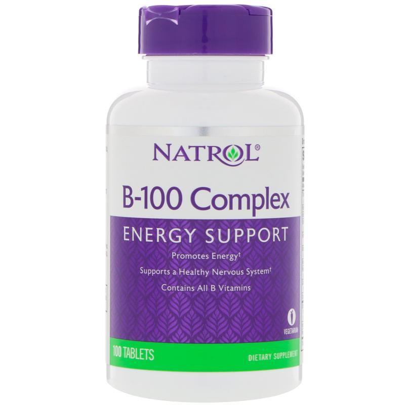 Natrol B-100 Complex 100 Tablets - фото 1