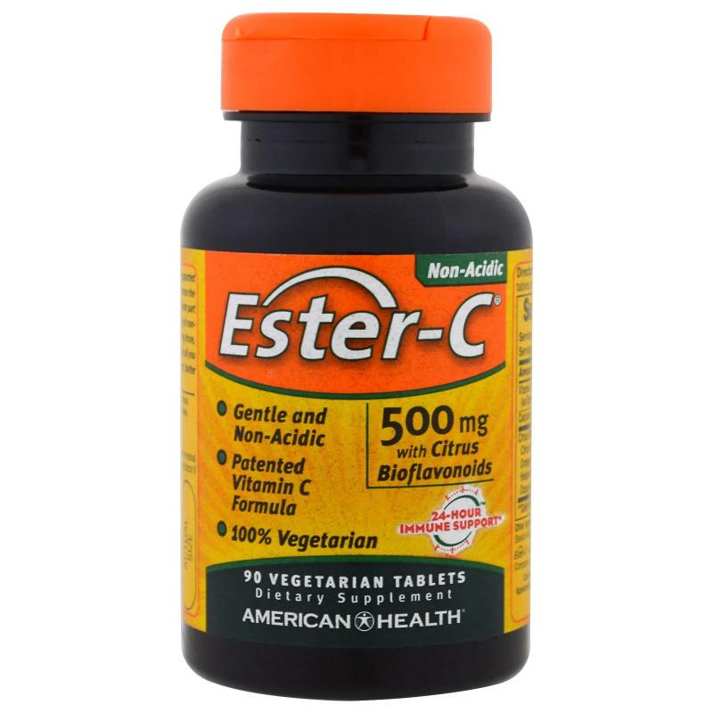 American Health Ester-C 500 mg with Citrus Bioflavonoids 90 vegeterian tablets - фото 1