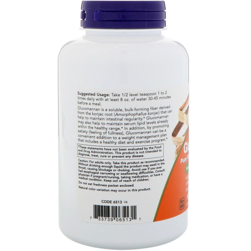 Now Foods Glucomannan Pure Powder from Konjac Root 227 g - фото 1