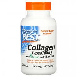 Doctor's Best Best Collagen Types 1&3 1000 mg 180 tabs