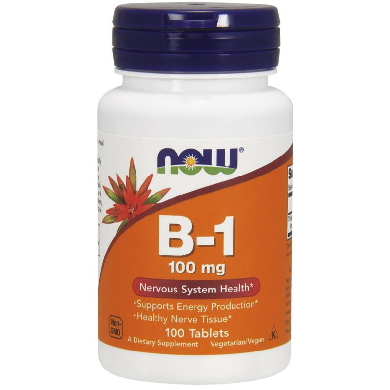 Now Foods B-1 100 mg 100 tabs - фото 1