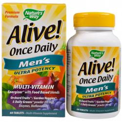 Natures's Way Alive Once Daily Men's Multi-Vitamin 60 tablets
