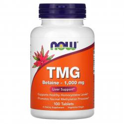 Now Foods TMG Betaine - 1,000 mg 100 tablets