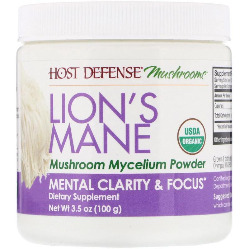 Fungi Perfecti Lion's Mane memory and nerve support 100 g - фото 1