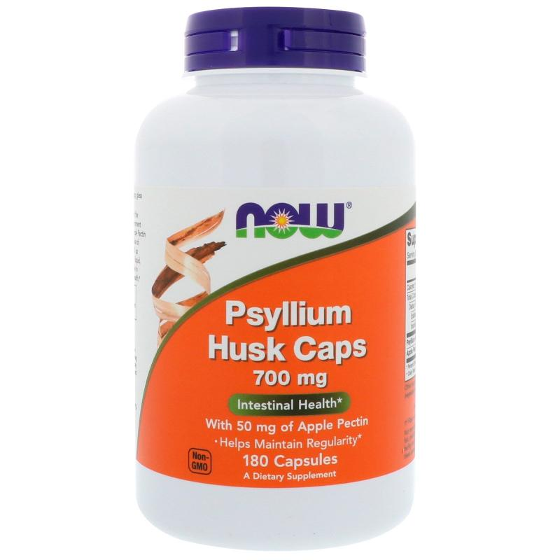 Now Foods Psyllium Husk Caps 700 mg 180 caps - фото 1