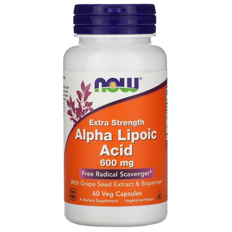 Now Foods Alpha Lipoic Acid 600 mg 60 vcaps - фото 1