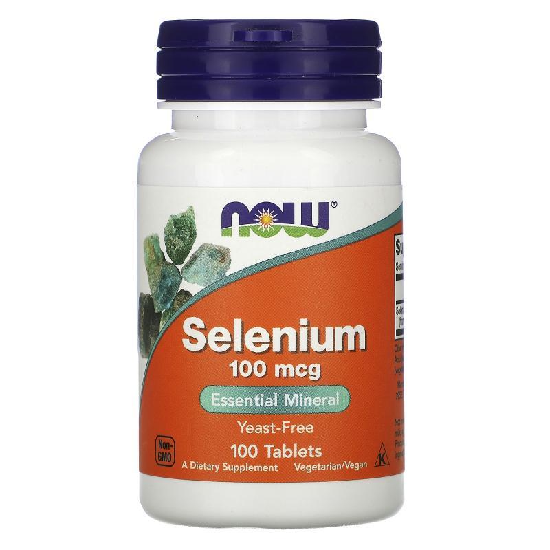 Now Foods Selenium 100 mcg 100 tab - фото 1