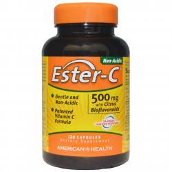 American Health Ester-C with Citrus Bioflavonoids 500 mg 120 Capsules