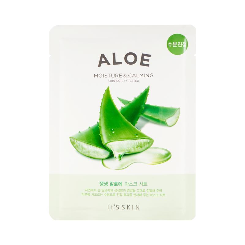 It's Skin The Fresh Aloe Mask Sheet Успокаивающая тканевая маска с алоэ вера 18 гр - фото 1