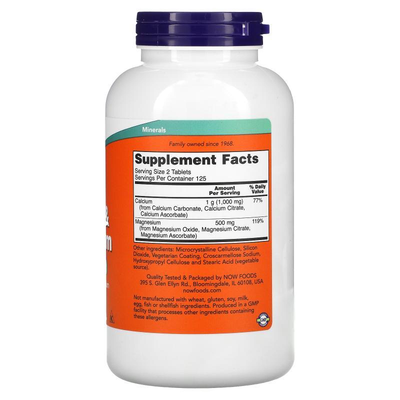 Now Foods Calcium & Magnesium 250 Tablets - фото 1
