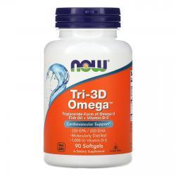 Now Foods Tri-3D Omega + Vitamin D-3 90 softgels