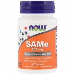 Now Foods SAMe 200 mg 60 Tablets