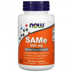 Now Foods SAMe 200 mg 60 Capsules