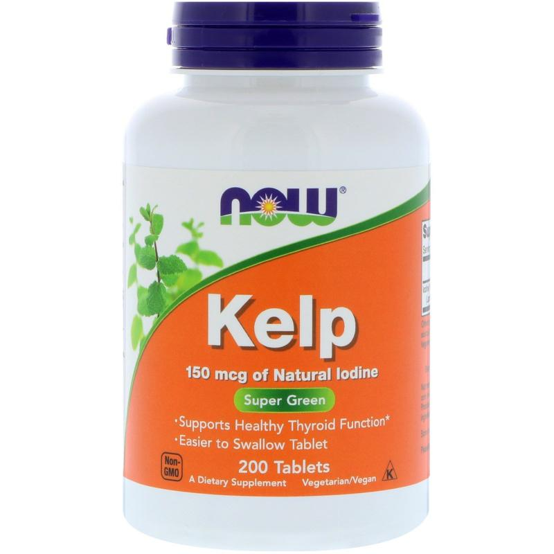 Now Foods Kelp 150 mcg 200 tab - фото 1