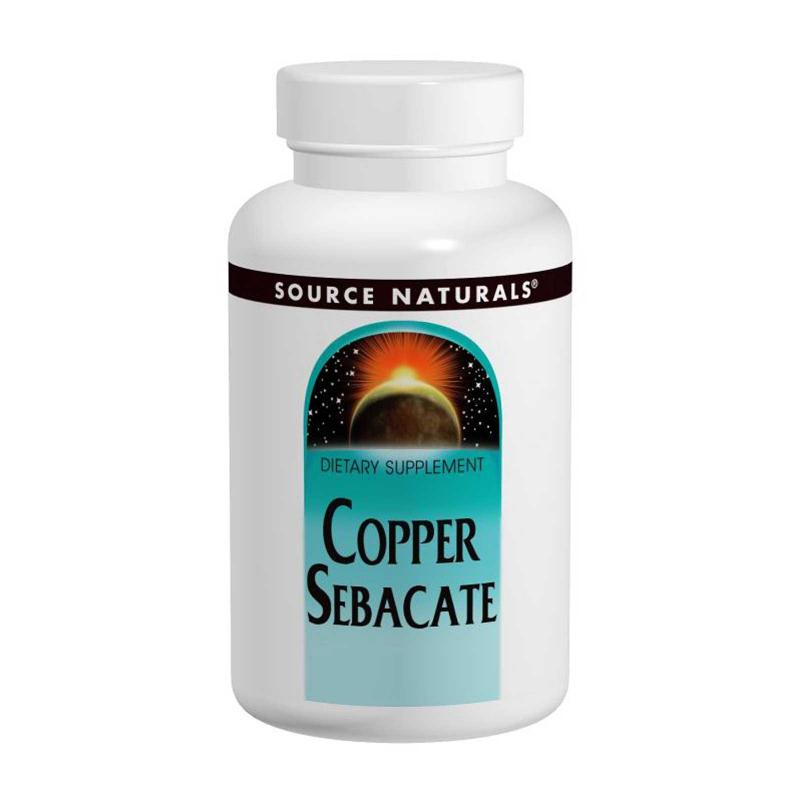 Source Naturals Copper Sebacate 22 mg 120 tab - фото 1