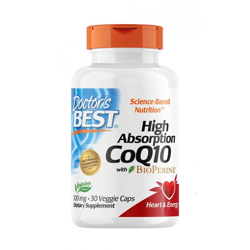 Doctor's Best CoQ10 with BioPerine 100 mg 30 caps - фото 1