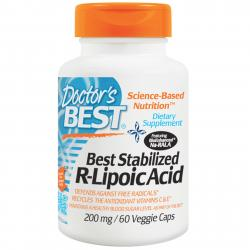 Doctor's Best Stabilized R-Lipoic Acid 200 mg 60 vcaps