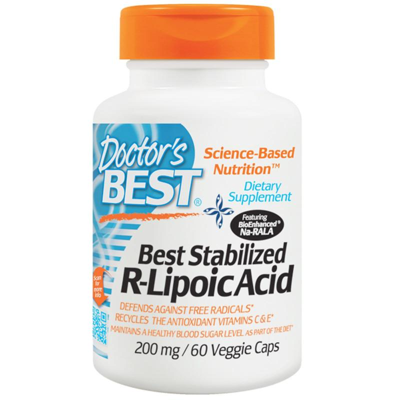 Doctor's Best Stabilized R-Lipoic Acid 200 mg 60 vcaps - фото 1