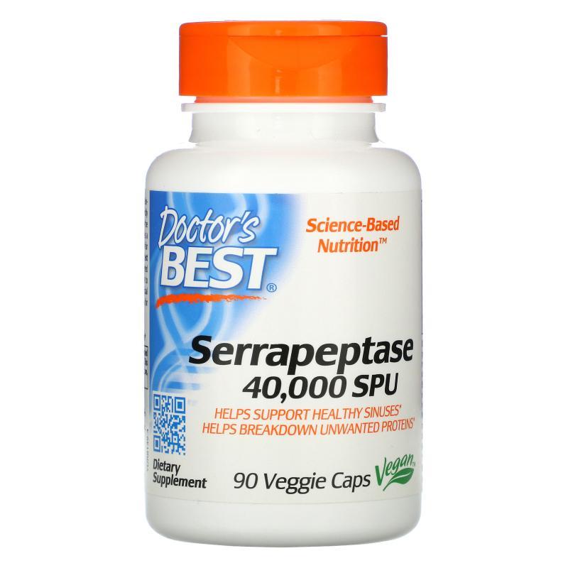 Doctor's Best Best Serrapeptase 90 vcaps - фото 1